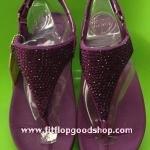 รองเท้า Fitflob Flare Sandal เพชรกระจายรัดส้น เพชร 1 สี สีม่วง No.FF025
