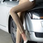 (Pre-Order) กางเกงผู้หญิงแฟชั่นมาใหม่ 4D สีเบจ กางเกงลำลองสุดหรู ใส่สบาย ยืดหยุ่นได้ดี ไม่ร้อน