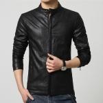 Pre-Order เสื้อแจ็คเก็ตหนัง แบบเข้ารูป สีดำ