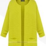 (Pre-Order) เสื้อไหมพรม เสื้อสเวตเตอร์ ถักจากผ้าฝ้าย แฟชั่นเสื้อสไตล์เกาหลี สีเขียว