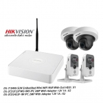 Hikvision Set Embedded MIni WiFi NVR 4CH 2MP Cube&PT Network Camera