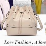 Pre-order กระเป๋าสะพายผู้หญิง Jinfenshijia กระเป๋าสไตล์ยุโรปอเมริกัน หนัง PU สีขาว