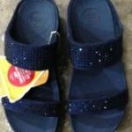 รองเท้า Fitflob Rokkit Slide สวม 2 สายเพชรกระจาย สีน้ำเงิน  No.FF311