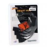 USB HUB 4 PORT (4 Cabal) black