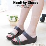 รองเท้าเพื่อสุขภาพ สไตล์แบรนด์ Gucci แบบสวมสองตอน