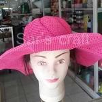 หมวกถักโครเชต์ หมวกปีกกว้าง หมวกสวย