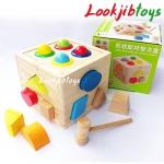 กล่องหยอดบล็อกรูปทรง ค้อนทุบลูกบอล