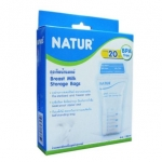 NATUR เนเจอร์ ถุงเก็บน้ำนมแม่ 6 ออนซ์ บรรจุ 20 ถุง BPA Free