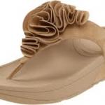รองเท้า Fitflop Frou Sandal  ดอกไม้กำมะหยี่สีครีม  No.FF268