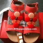 รองเท้า Fitflob Arena Luxe Red  หุ้มข้อ สีแดง เพชร 7 เม็ด  No.FF006