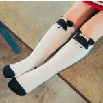 ถุงเท้าเด็กแบบยาวสีขาว 4-6 ปี