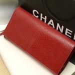 พรีออเดอร์ กระเป๋าคลัช, กระเป๋าแฟชั่นเกาหลี, กระเป๋าสตางค์ ปั้มลายหนังงู สีแดง