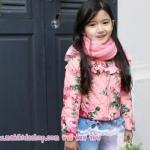 เสื้อแจ็คเก็ตเด็ก เสื้อกันหนาวเด็ก สไตล์เกาหลีลายดอก Phelfish