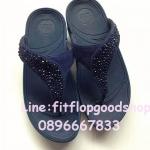 รองเท้า Fitflob Limited รุ่นเพชรกระจายใบไม้ หูหนีบ สีน้ำเงิน  No.FF472