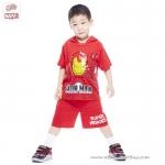 ( 3-4-5 ปี ) ชุดแฟนซี เด็กผู้ชาย Super Hero - The Avengers - IronMan สีแดง เสื้อแขนสั้นสกรีนลายIron Man มีหมวก(ฮู้ด) มีไฟกระพริบตรงหน้าอก กางเกงขาสั้น ชุดสุดเท่ห์ ใส่สบาย ลิขสิทธิ์แท้ (สำหรับเด็ก3-4-5 ปี)