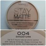 **พร้อมส่งค่ะ + ลด 50 %**Rimmel London Stay Matte Sandstorm 004 14g