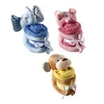 Hudson Baby ผ้าห่ม พร้อมตุ๊กตาของเล่น 3 สี 3 แบบ