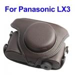 พร้อมส่งกระเป๋ากล้องหนัง เคสกล้อง Panasonic LX3สีน้ำตาล