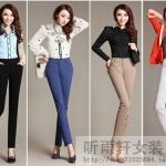 (Pre-Order) กางเกงทำงาน กางเกงขายาว กางเกงลำลอง ทรงดินสอ แฟชั่นเกาหลีปี 2014
