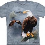 Pre.เสื้อยืดพิมพ์ลาย3D The Mountain T-shirt : Eagle Collage