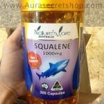 น้ำมันตับปลาฉลามน้ำลึก pure squalene 1,000mg Nature Care ออสเตรเลีย