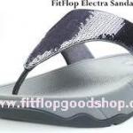 รองเท้า Fitflob Electra ปักเลื่อมเกรดปลา สีบอร์นเงิน No.FF012