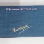 กระเป๋าสตางค์ นารายา ผ้าเดนิม สียีนส์ น้ำเงิน ( กระเป๋านารายา กระเป๋าผ้า NaRaYa )
