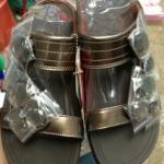 รองเท้า Fitflop Lucia Slide สวม (เพชร 5 เม็ด) สีำน้ำตาลทอง No.FF072