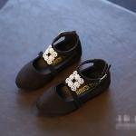 รองเท้าคัทชูเด็กใส่ออกงาน สีดำ