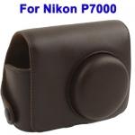 พร้อมส่ง กระเป๋ากล้องหนัง เคสกล้อง Semi Soft Case for Nikon P7000 สีน้ำตาล