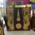 ภาพ ยูงทองคำ ขนาด 1 x 1 เมตร