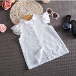 เสื้อเด็กผู้หญิงสีขาว ไซส์ 11