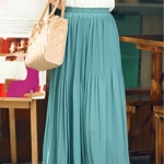 Pre-Order กระโปรงพลีท ผ้าชีฟอง ปี 2014 สไตล์โบฮีเมียน ราคาเบา ๆ น่าเป็นเจ้าของที่สุด สีเขียว