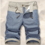 Pre-order กางเกงขาสั้น กางเกงลำลองฤดูร้อน กางเกงทะเล แบบทูโทน แฟชั่นสไตล์เกาหลี สีฟ้า