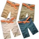 (Pre-Order) กางเกงลำลอง ขาสั้น ทรงตรง แฟชั่นฤดูร้อนสำหรับผู้ชาย