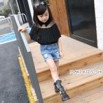 รองเท้าเด็กสไตล์โบฮีเมียน สีดำ