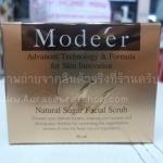 Modeer natural sugar facial scrub 50ml. สครับน้ําตาล ของหญิงแย้