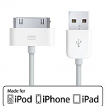 Cable USB To IPHONE4/4s IPAD (3M) White