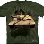 Pre.เสื้อยืดพิมพ์ลาย3D The Mountain T-shirt : M1 Abrams Tank Breakthru