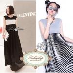 Lady Ribbon Must have item!! Don't miss ladies! Lady Ribbon's Made Lady Jersey Pleats Please Maxi แมกซี่ผ้ายืดต่อกระโปรงพลีต ลุค smart&casual มี2โทนสีให้เลือกค่ะ ผู้ดีเรียบหรู ด้วยโทนสีขาว-ดำ Classic หรือลุคชิคๆ ด้วยโทนสีเทาตัดลายทางขาวดำ ลุคเก๋ๆแบบสาว