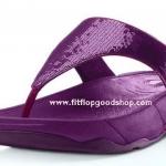 รองเท้า Fitflob Electra ปักเลื่อมเกรดปลา สีม่วง No.FF009