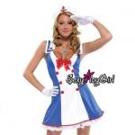 ชุดแฟนซี ชุดคอสเพลย์ cosplay ชุดนิทาน = ชุดกะลาสี ชุดทหารเรือ เดรสกระดุมแดงสองแถว + หมวกกะลาสี =
