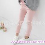แฟชั่นเด็ก กางเกงขายาวสีชมพู PinkIdeal
