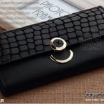 กระเป๋าสตางค์ กระเป๋าถือผู้หญิง กระเป๋าบัตร กระเป๋าหนังแท้ หนังนิ่ม แฟชั่นกระเป๋าถือสไตล์เกาหลี 2013 สีดำ