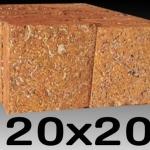 หินศิลาแลงเหลี่ยม ขนาด20x20 ซม.