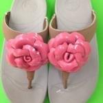 รองเท้า Fitflop Florent ดอกไม้ 1 ดอก ดอกสีชมพู/คาดสีครีม No.FF054