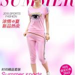 Pre-Order ชุดออกกำลังกายแฟชั่นฤดูร้อน ชุดออกกำลังกายผู้หญิง ชุดลำลอง สไตล์สาวคล่อง เสื้อแขนสั้นและกางเกงขาสามส่วน สีชมพู
