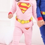 ชุดนอนเด็ก ซุปเปอร์แมนสีชมพู