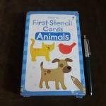 first stencil cards animals