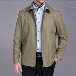 Pre-Order เสื้อเจ็คเก็ตผู้ชาย ผ้าฝ้ายผสมโพลีเอสเตอร์ แฟชั่นเสื้อทำงานแบบกึ่งทางการ สีกากี
